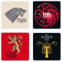 Sous Verres Emblèmes Game of Thrones