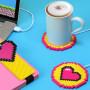 Chauffe-tasse USB Cœur Pixel