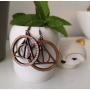 Boucles d'Oreilles en bois Reliques de la Mort Harry Potter