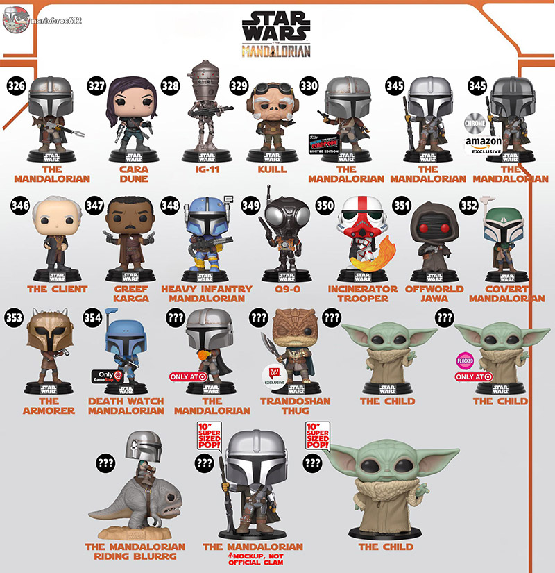 Collection Funko POP The Mandalorian